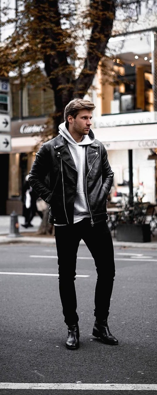 Street Style Hoodie Outfit Ideas For Men
