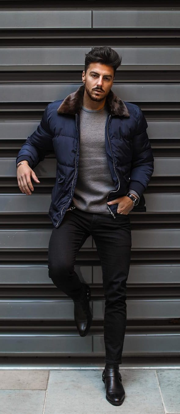 Street Style Winter Style Outfit Ideas For Men