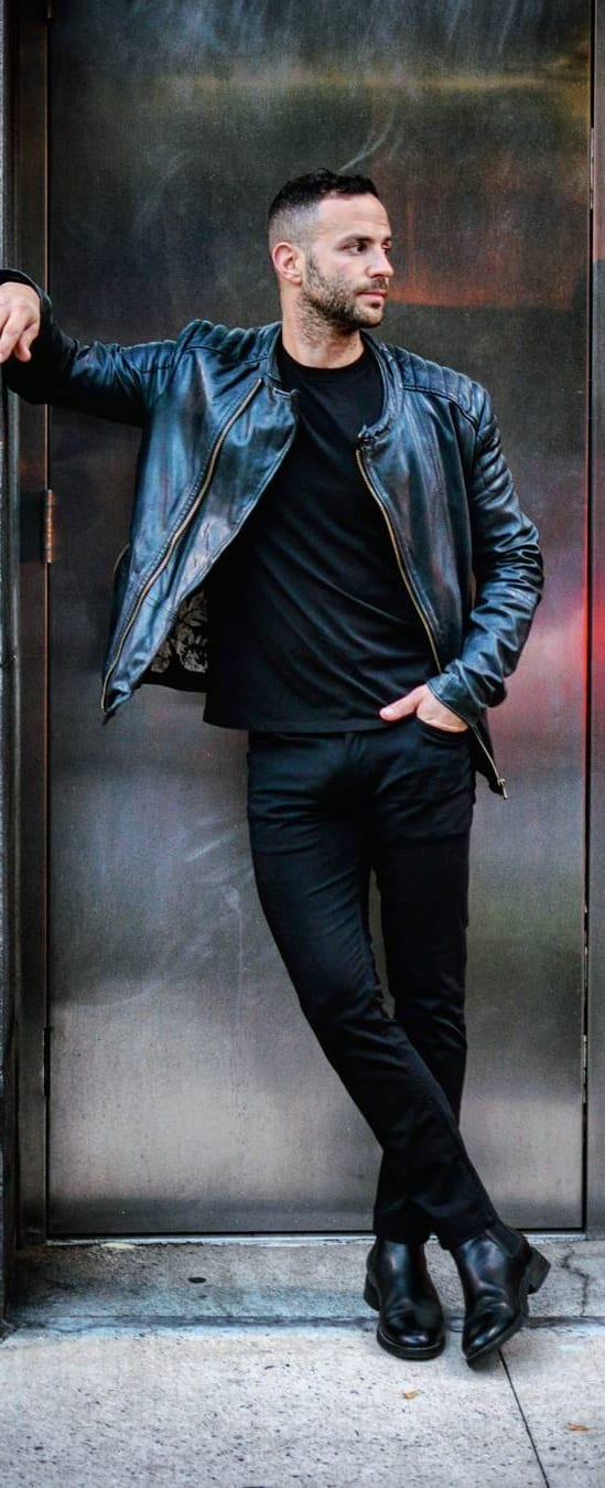 Stylish Leather Jacket Outfit Ideas For Men