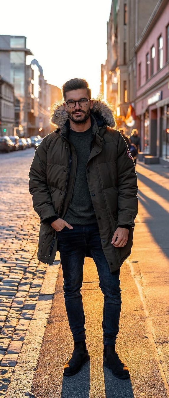 Stylish Puffer Jacket Outfit Ideas For Men