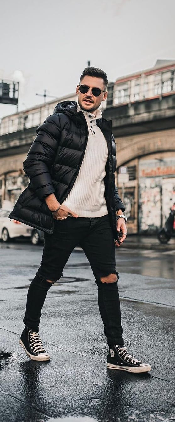 Trendy Puffer Jacket Outfit Ideas For Men