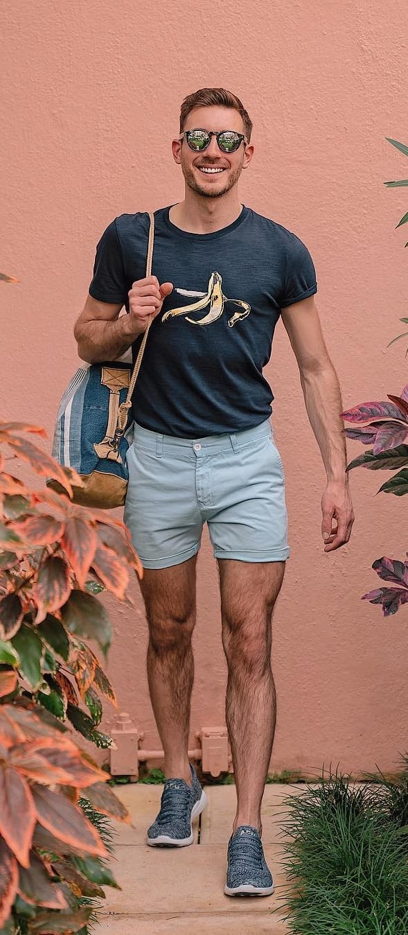 Casual Crew Neck Outfit Ideas For Men