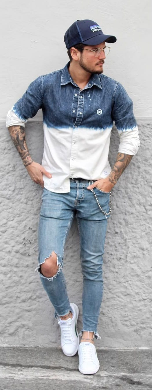 Cool Denim On Denim Outfit Ideas For Men