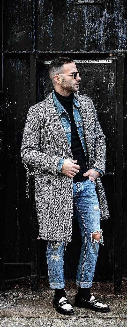 Fashionable Denim On Denim Outfit Ideas For Men
