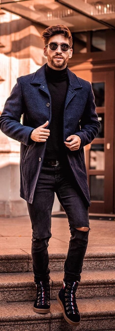 Turtle Neck Outfit Ideas For Men