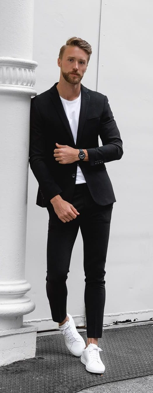 Suits With Sneakers Outfit Ideas To Style