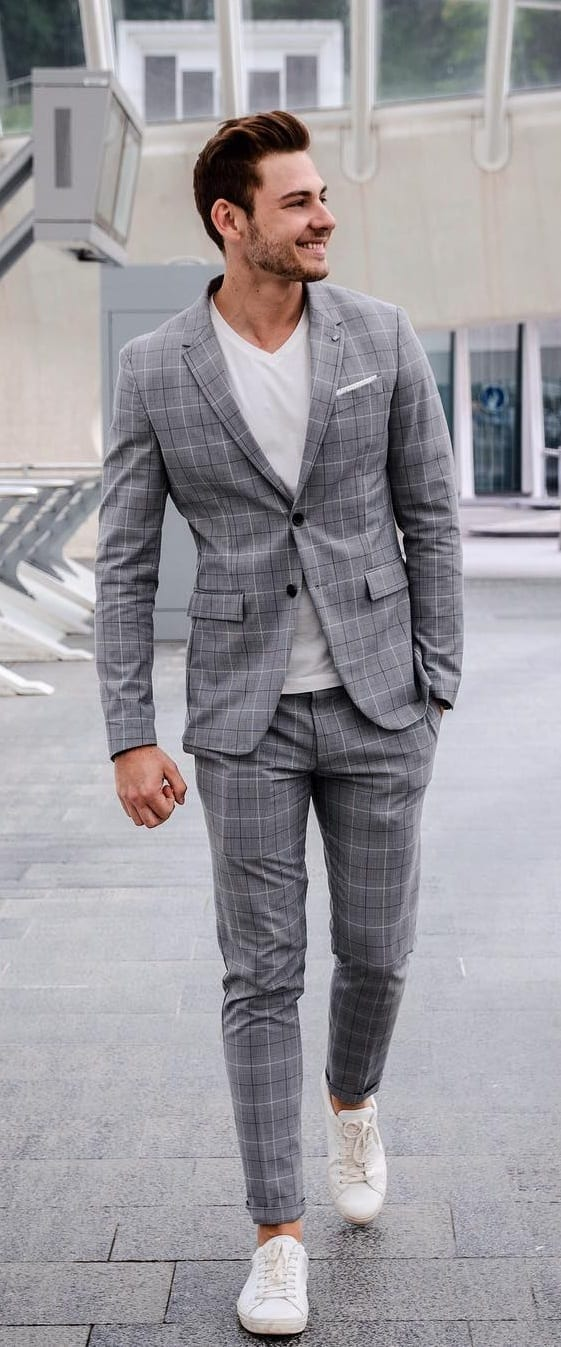 Suits With Sneakers Outfit Ideas To Try