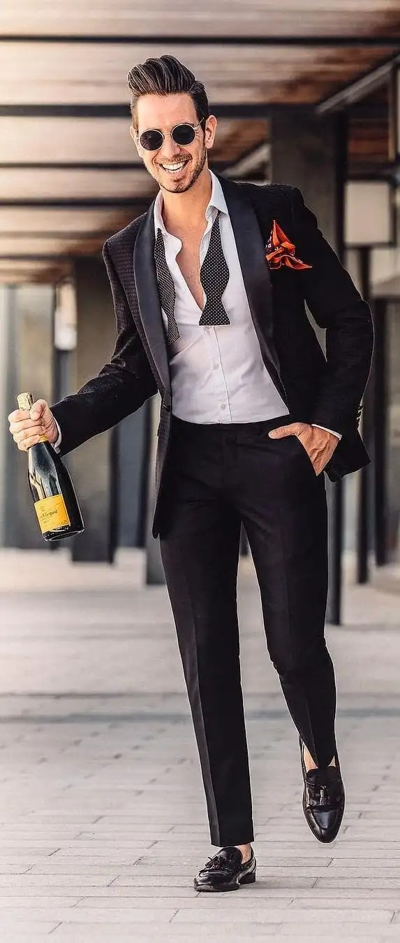 Black Suit Outfit Ideas For Guys This Year