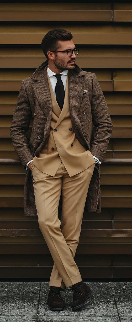 Khaki Suit Outfit Ideas For Fall