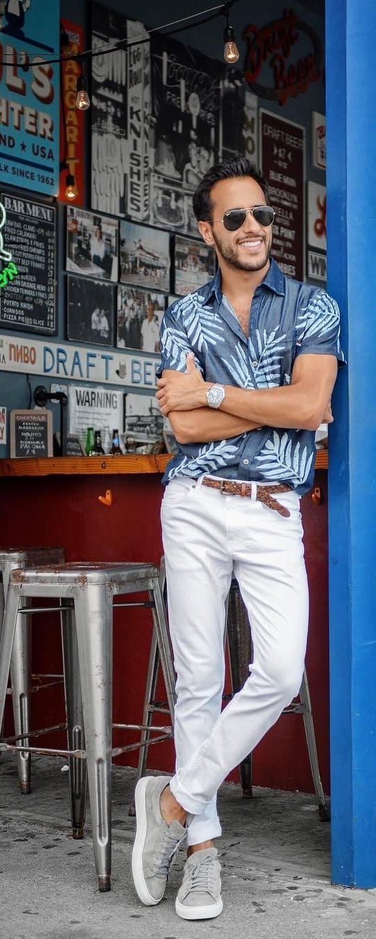 Short Sleeve Printed Shirts For Men 2019