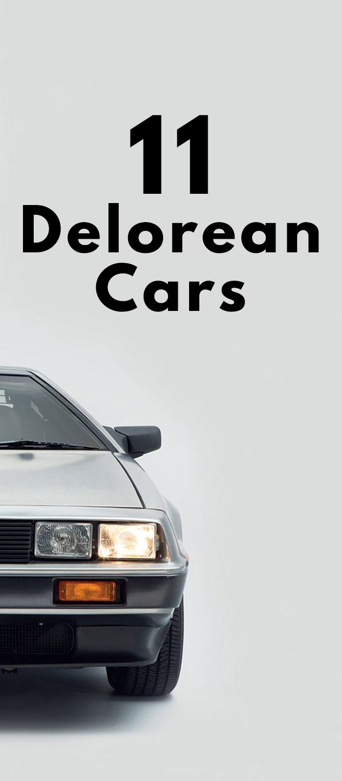 11 DELOREAN CARS!