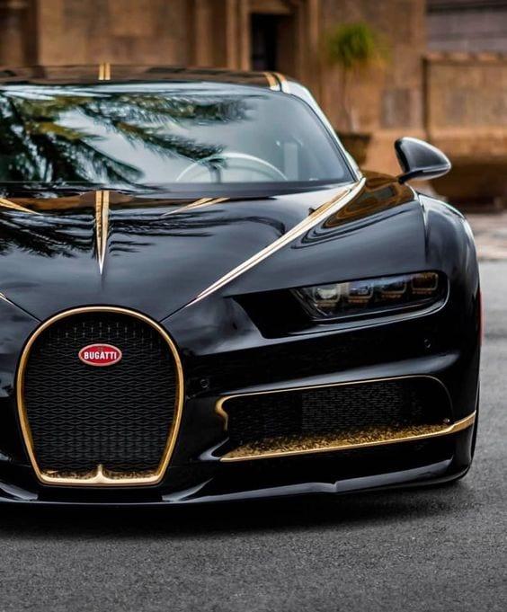 BUGATTI BLACK sports car