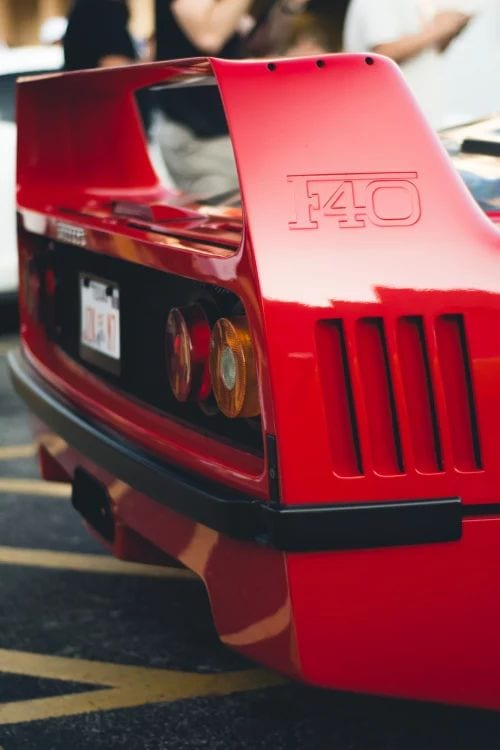 FERRARI F40 WALLPAPER SPOILER