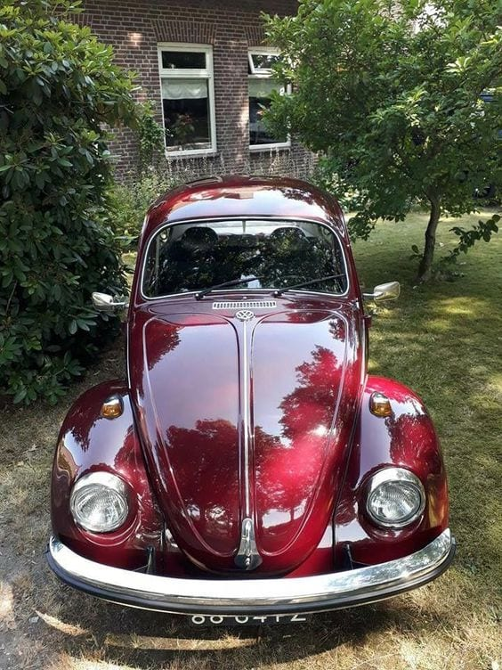 MAROON BEETLE CAR