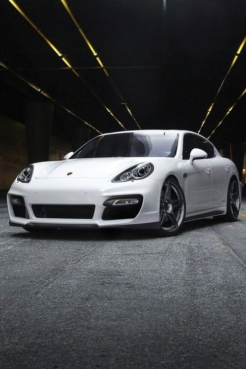 Porsche Panamera white wallpaper