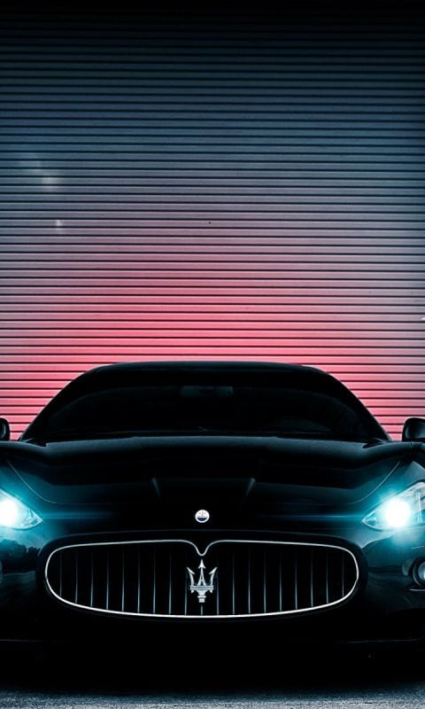 maserati black with lights wallpaper