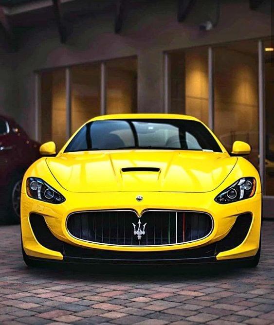 maserati yellow car