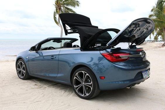 Blue Buick Cascada Convertible