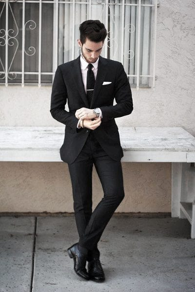 Gentlemen's Black Lounge Suit ideas for men