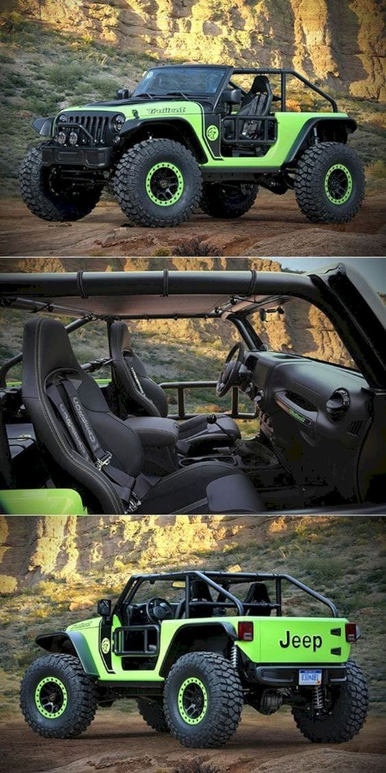 JEEP GREEN CUSTOMIZED CAR