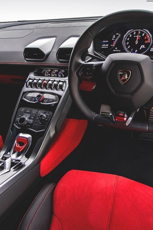 LAMBORGHINI INTERIOR RED