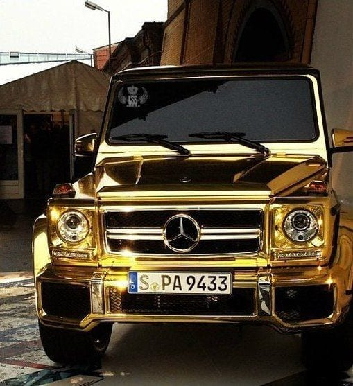MERCEDES G WAGON GOLD LUXURY CAR