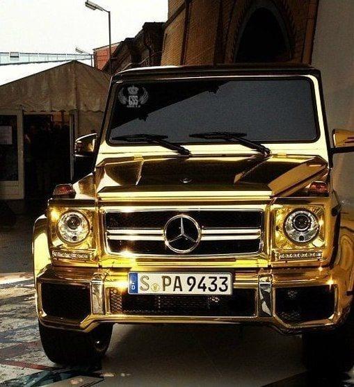 MERCEDES G WAGON GOLD LUXURY CAR