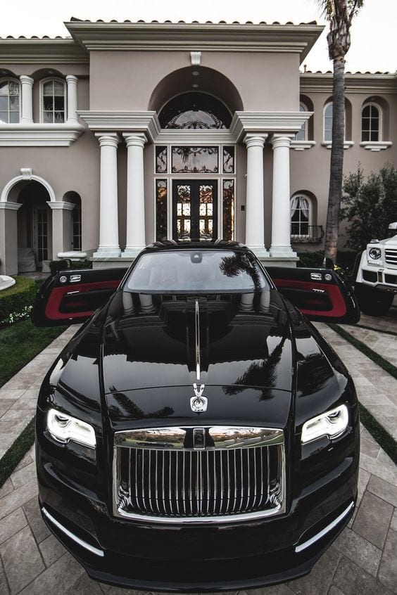 ROLLS ROYCE BLACK CHROME WALLPAPER
