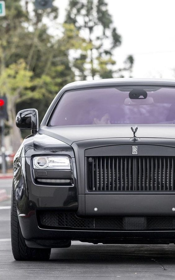 ROLLS ROYCE CHARCOAL BLACK WALLPAPER
