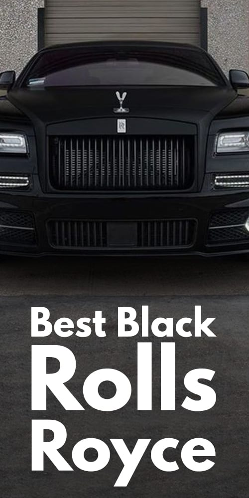 Stunning Black Rolls Royce Photos You Will Fall In Love!