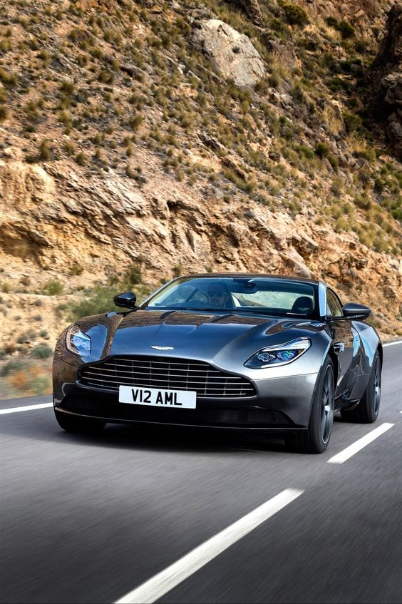 aston martin front view wallpaper