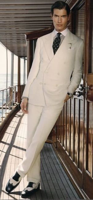 Full white suit for yacht party