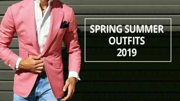 Pink jacket white shirt blue denim ideas for men
