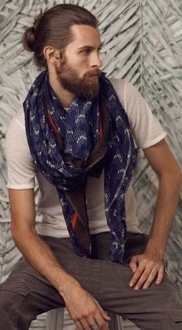 White shirt scarf ideas for men