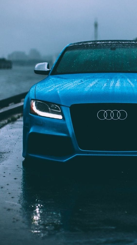 AUDI BLUE WALLPAPER