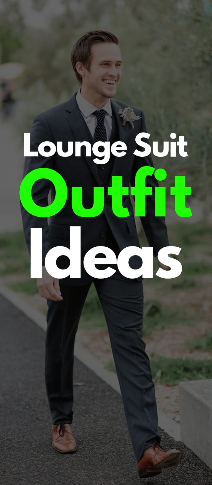 Black Lounge Suit black tie brown shoes white shirt ideas for men