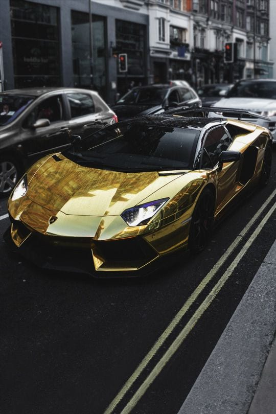 LAMBORGHINI GOLD ON STREETS