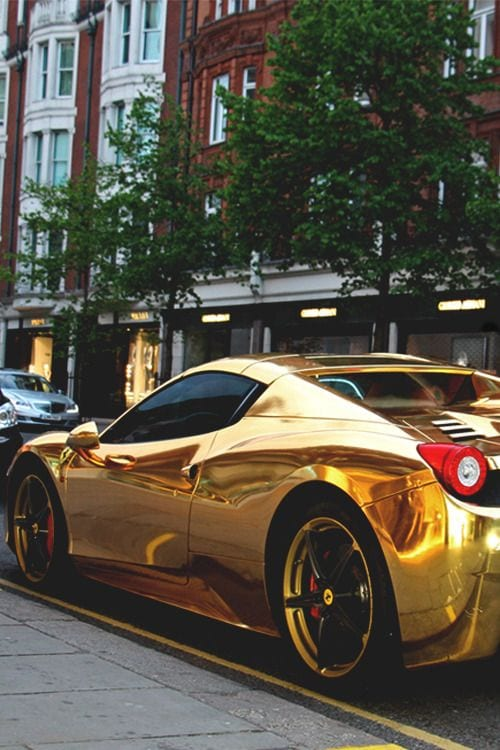 LAMBORGHINI GOLDEN CHROME CAR