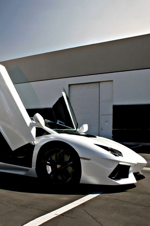 LAMBORGHINI WHITE OPEN DOORS