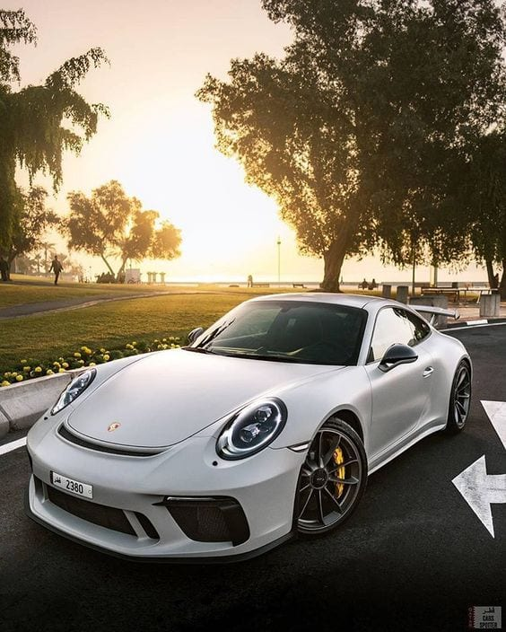PORSCHE 911 GT3 WHITE WALLPAPER
