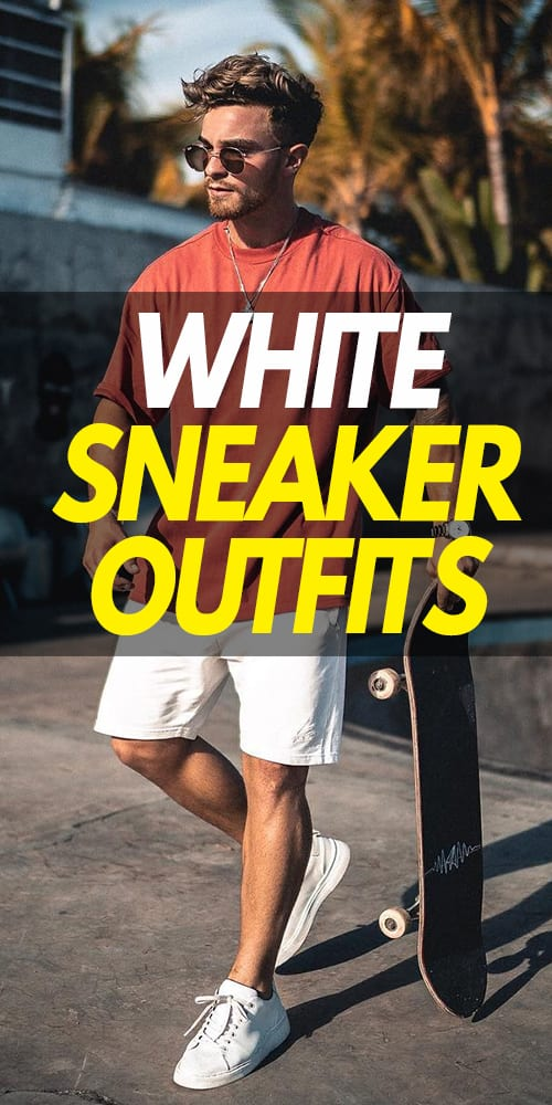 Red T-shirt White Shorts,White sneaker outfit