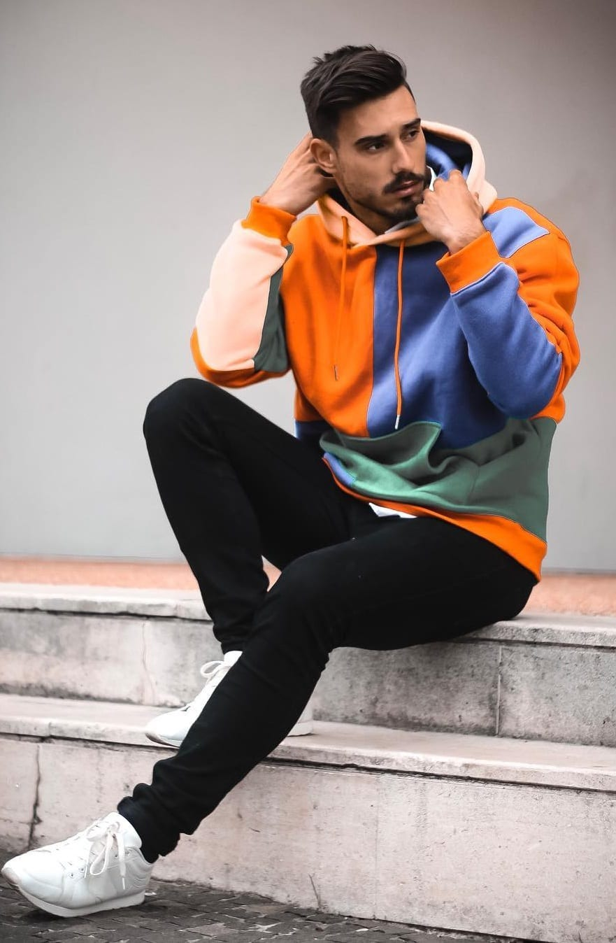 Colorblock Hoodie- Street Style Fashion