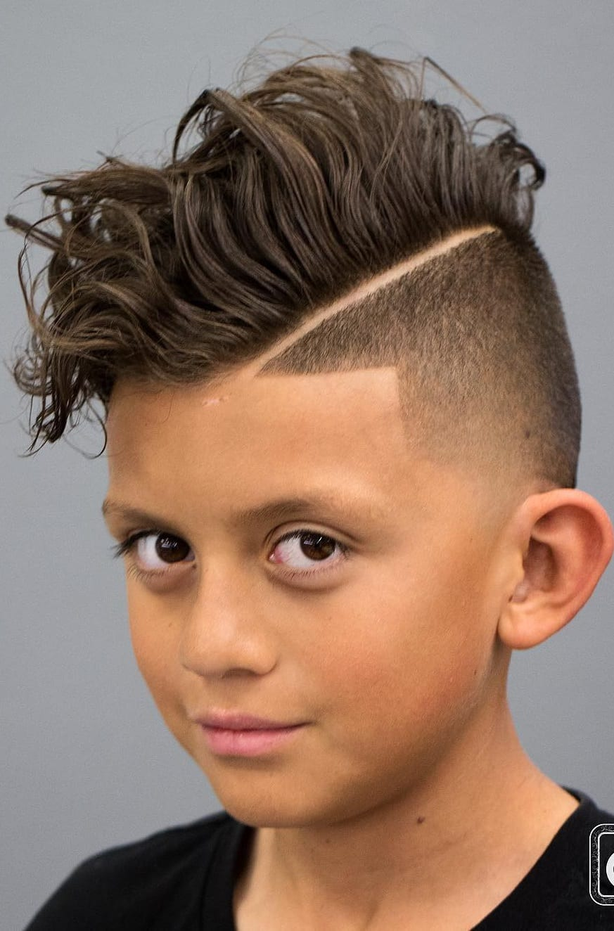 Curly hair Fade Kids Haircut for Boys