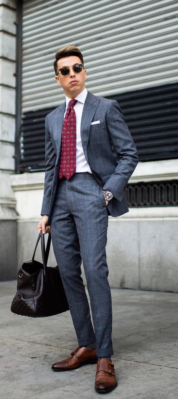 Grey Suit for Mens Office wear