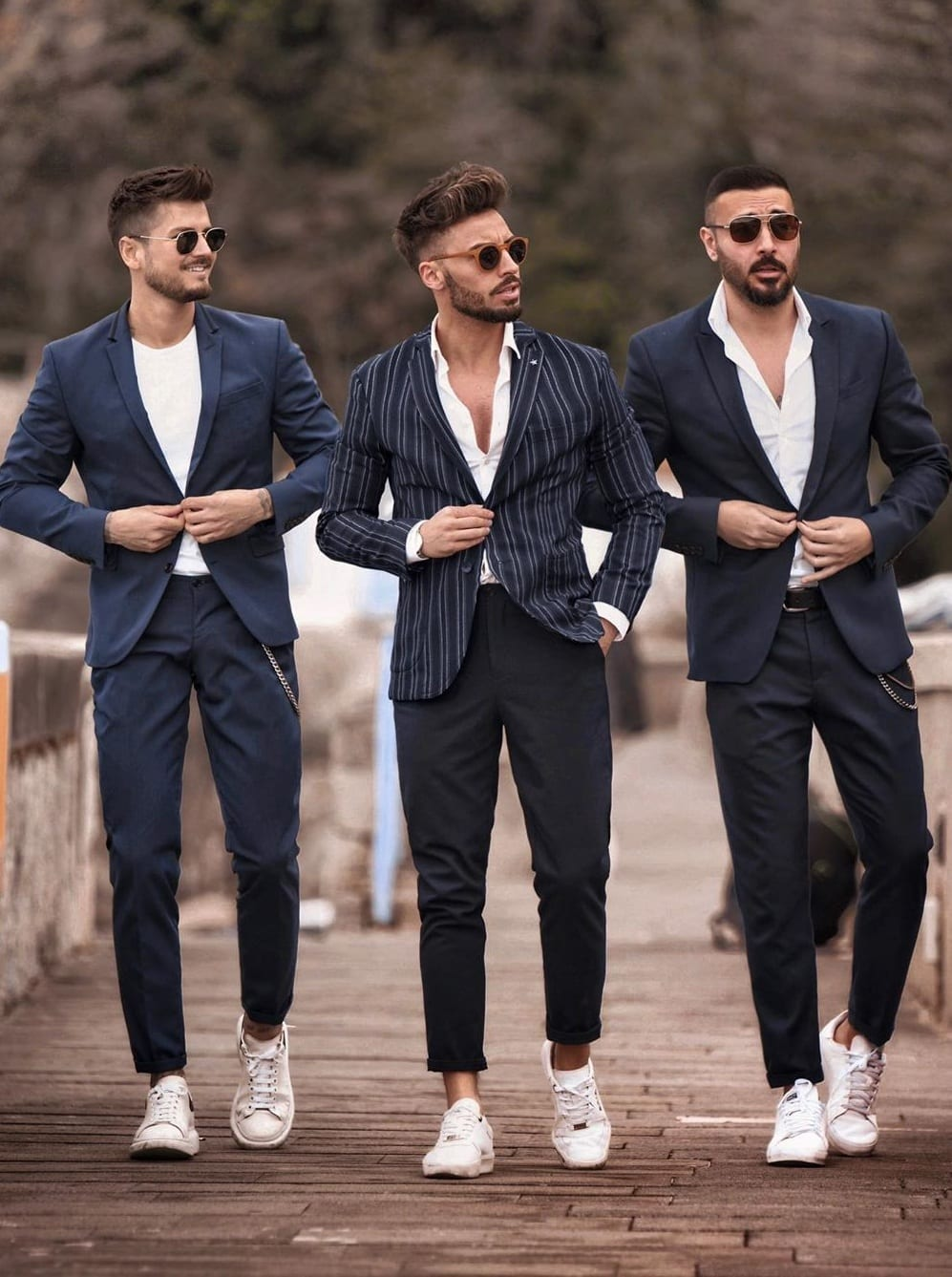 Matching Suit Outfits for Men's Street Style