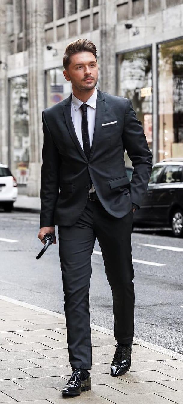 Black Suit, White Shirt the Best Formal Wear for men