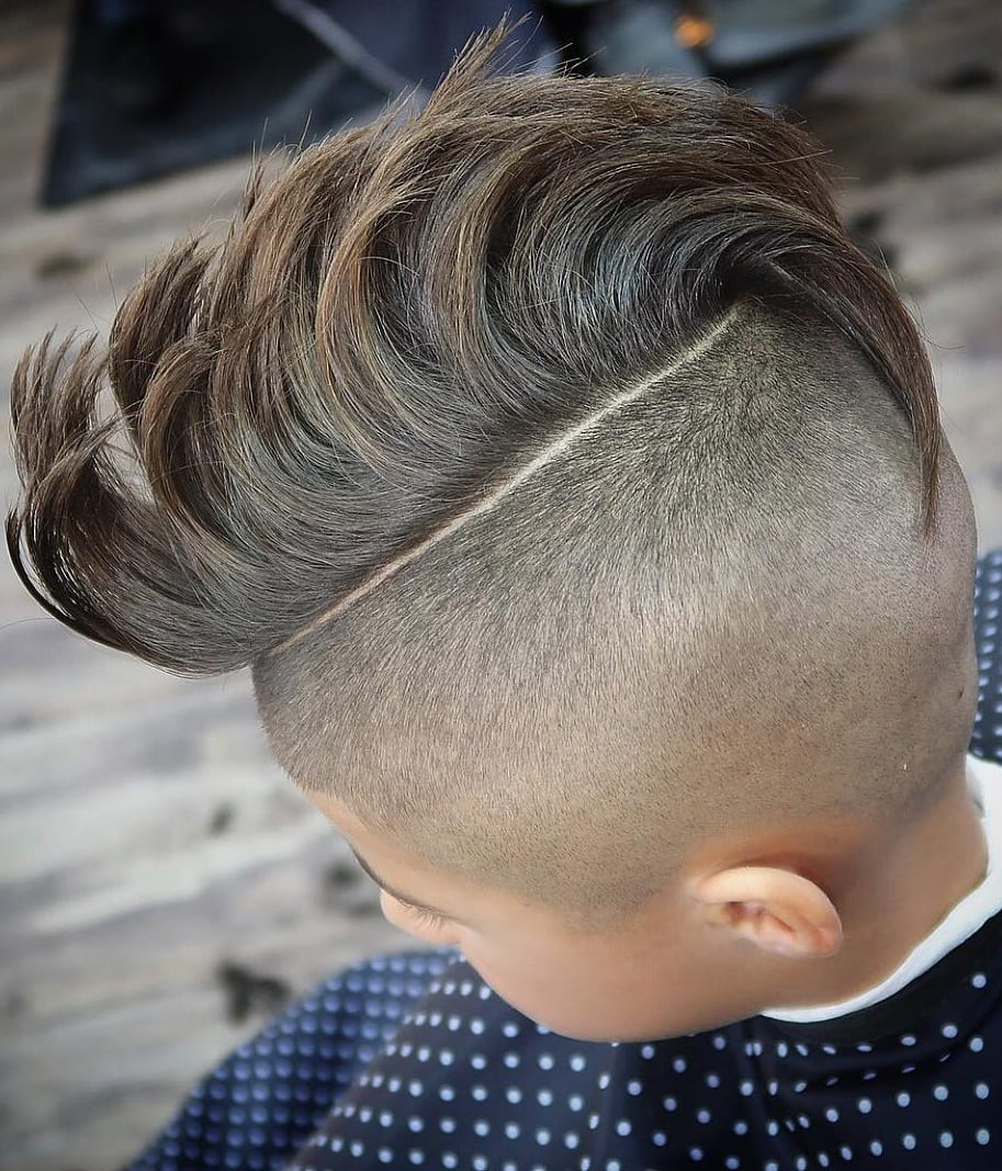 Mohawk and Bald fade Haircut for kids