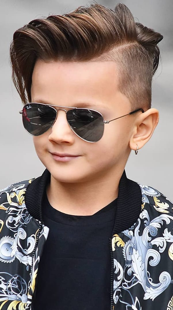 Pompadour Haircut Style for Boys