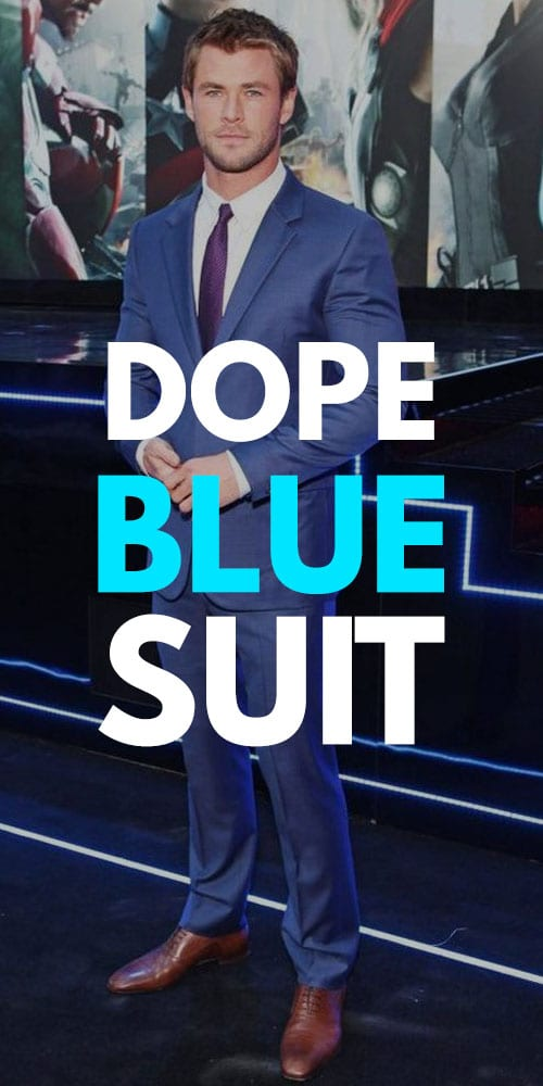 Dope Blue Suit Outfits for Men