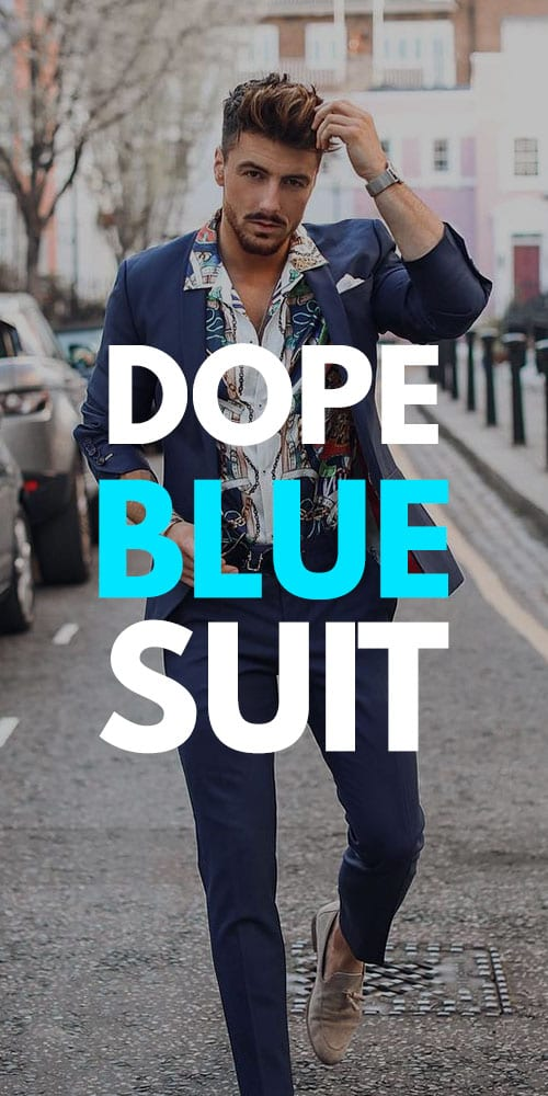 Dope Blue Suit Outfit Ideas 2019